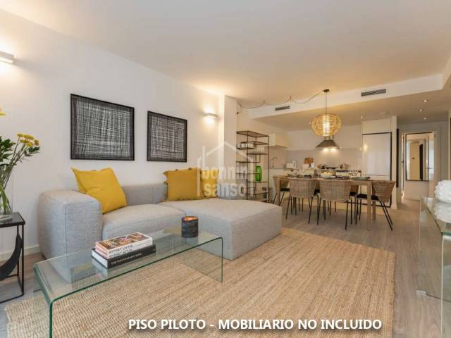 Newly built penthouse in a residential area of Mahón, Menorca.