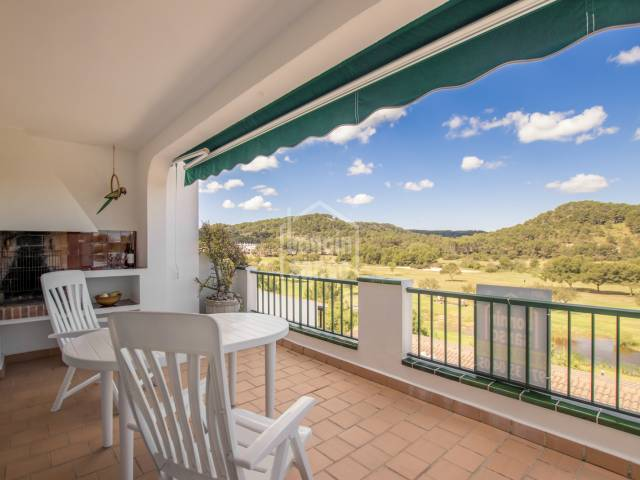 Apartment overlooking the golf course in Son Parc, Menorca.