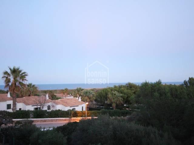 Apartamento en primera planta con  vistas al mar Coves Noves Menorca