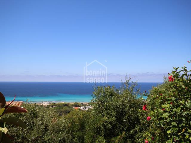 Wonderful Views from this South Facing Apartment in Menorca.