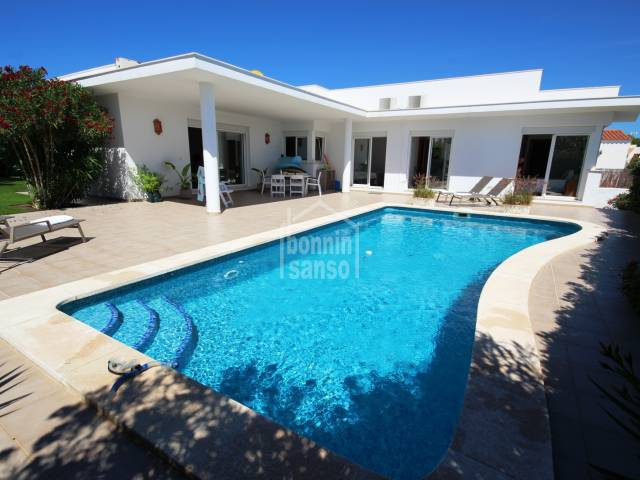 Chic single storey house in Cap D'en Font, Menorca