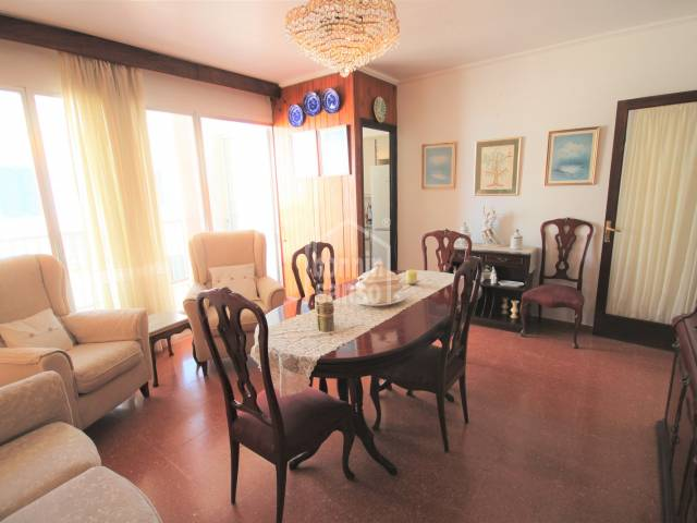 dining living room - Apartment of the late 60s, very well preserved, Ciutadella, Menorca