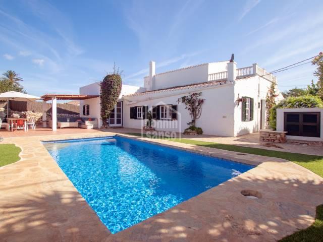 Interesting house with swimming pool in Binifadet, Sant Lluis, Menorca