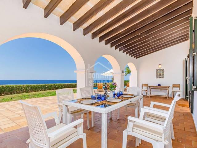 Magnificent front line property with spectacular views in Cala Blanca, Ciutadella, Menorca