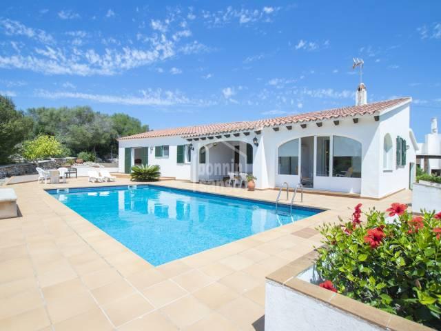 Precioso y cómodo chalet en Binixica, Menorca
