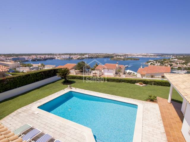 Superb villa in Cala Llonga overlooking the harbour of Mahon, Menorca