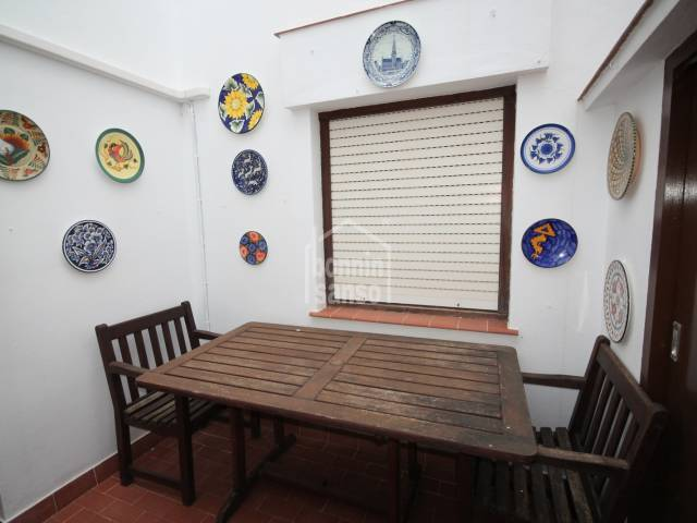 Lovely town flat, with small outdoor interior patio in Es Castell centre, Menorca