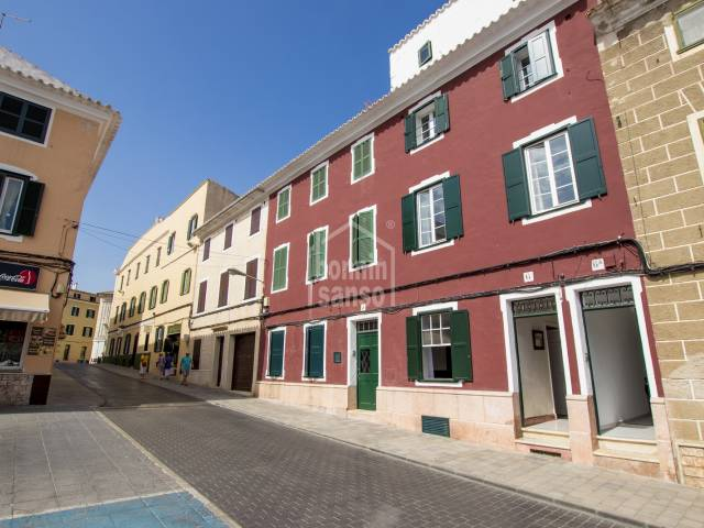 Town house divided into two houses in the centre of Mahon, Menorca.