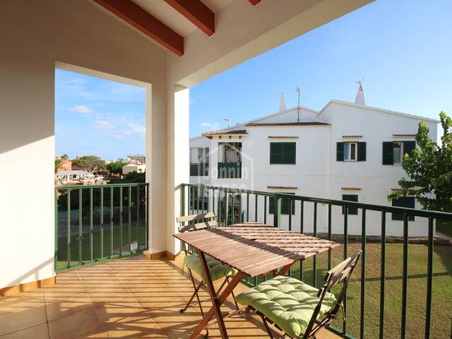 Two-bedroomed apartment in the urbanization of Los Delfines in Ciutadella, Menorca.
