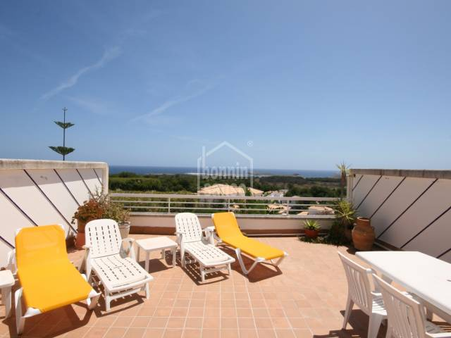 A large, well maintained apartment with great views in Coves Noves, Menorca