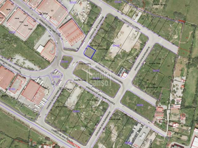 Plot situated in the expansion phase of the industrial estate of Alayor, Menorca.
