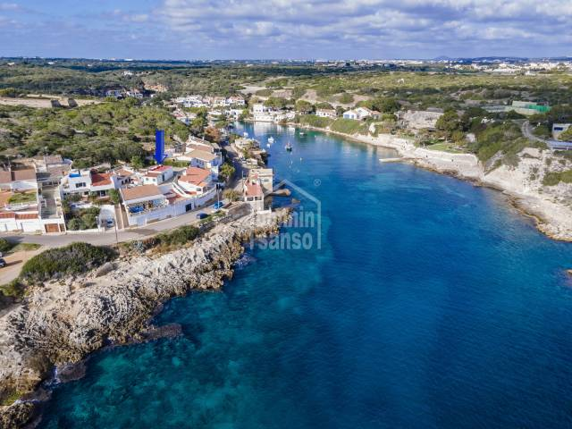 Front line property in the wonderful and peaceful bay of Cala San Esteban, Menorca.