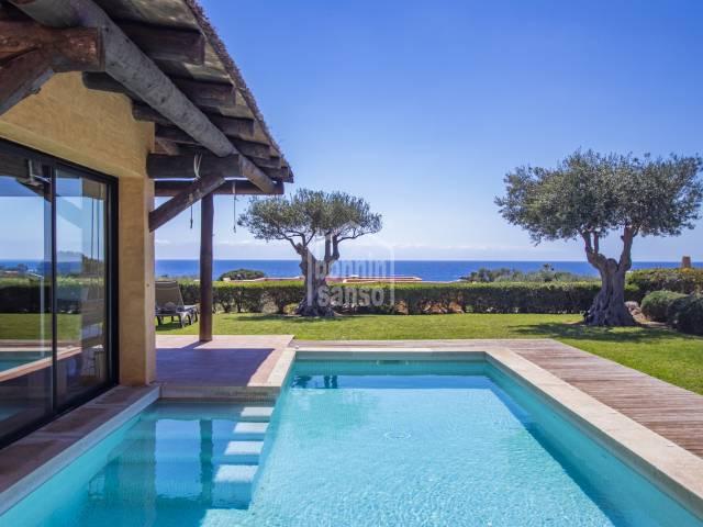 Bioclimatic villa in a concept developmend and gated comunity Binisafuller, Sant Lluis Menorca