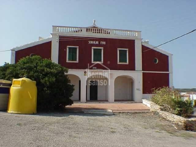 Casa de campo/local comercial en Son Vilar. Menorca
