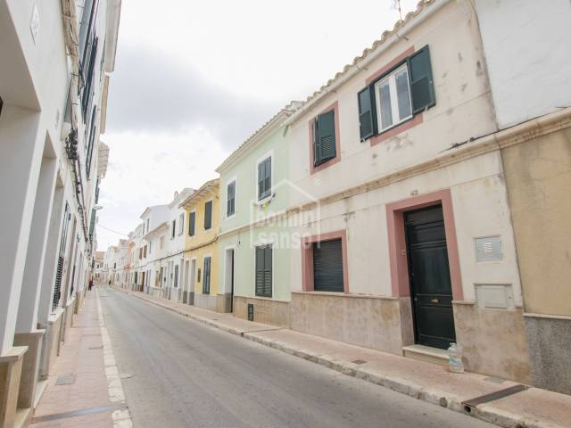 Town house with patio and two levels. Mahon center. Menorca