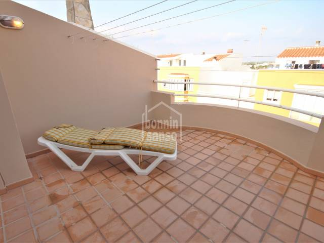 Attractive duplex with terrace in Ciudadela, Menorca.