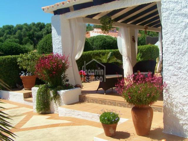 Villa surrounded with gorgeous gardens in Binibeca Beach, Menorca