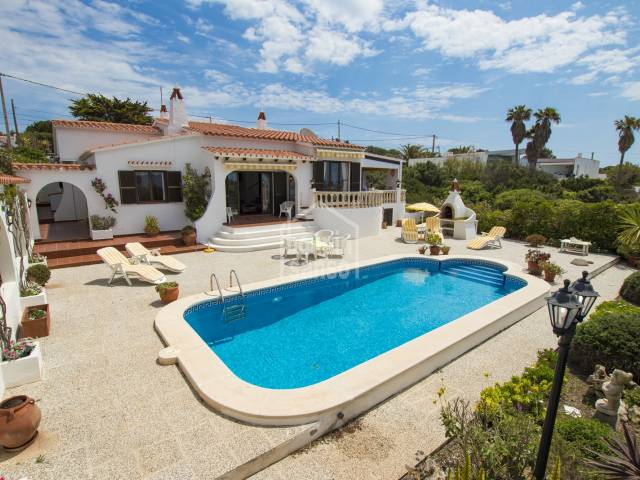 Fantastic sea views from this chalet in Calan Porter, Menorca with TOURIST LICENSE