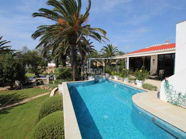 Spacious villa just 100 meters from the sea front at Salgar, Menorca