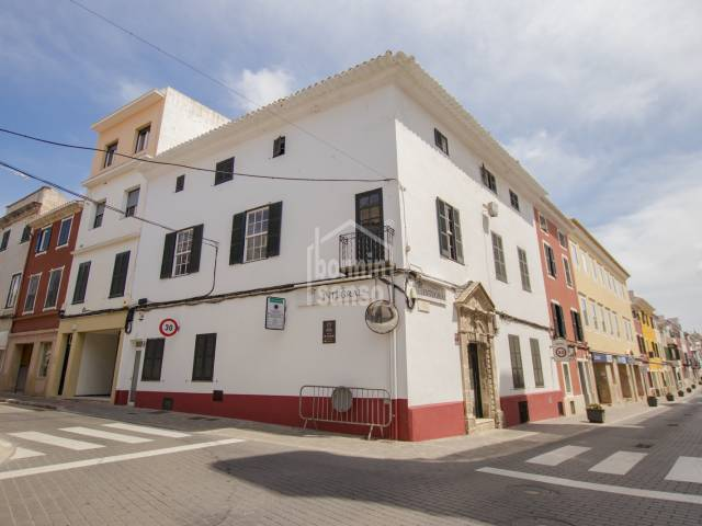 Large corner building in the centre of Mahon, Menorca