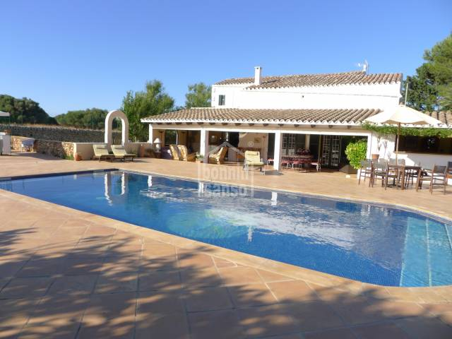 Beautiful farmhouse lovingly refurbished, in a rural setting in San Clemente, Menorca