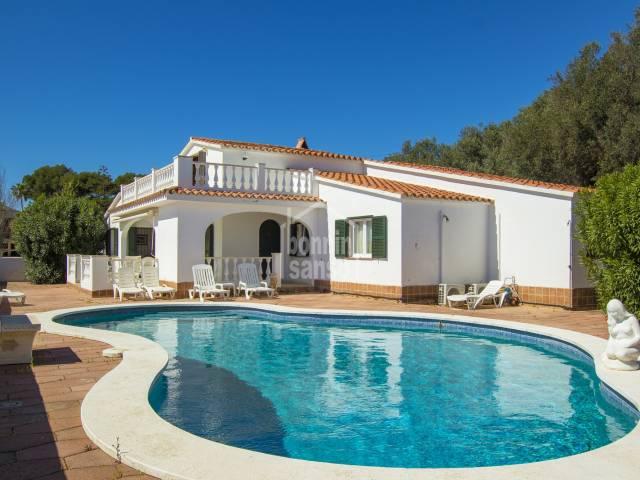 Chalet mit Panorama-Blick Blick auf die Isla del Aire,Menorca