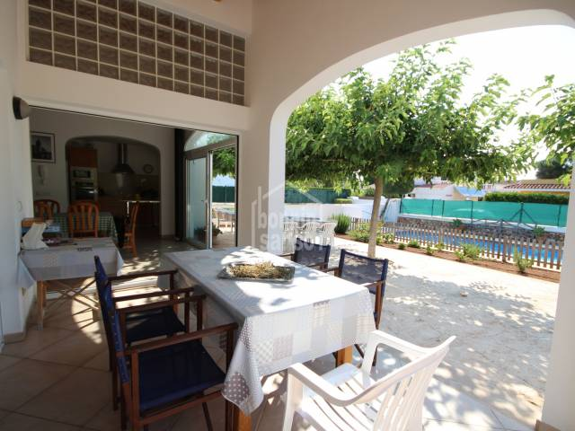 Comfortable villa in Calan Blanes to live all year, Menorca.