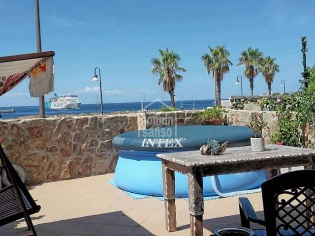 Moderna planta baja en primera linea, Ciutadella, Menorca