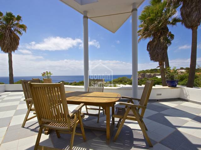 Conteporary design and outstanding sea views South Menorca