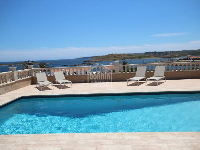 Superb villa with ample terraces and superb sea views.