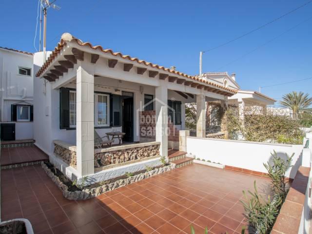 Bonita casa junto a la Playa Punta Prima Menorca.