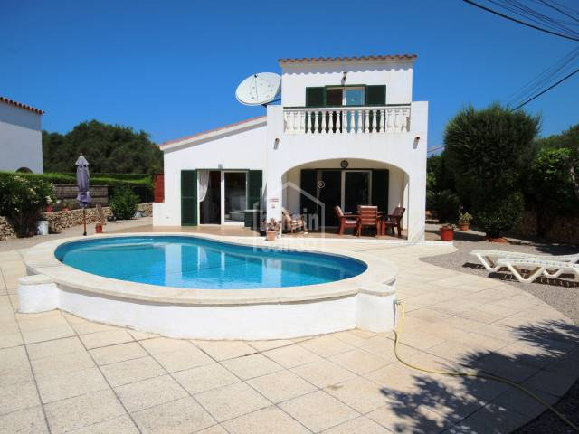 Well kept house with swimming pool in Son Vitamina, Menorca