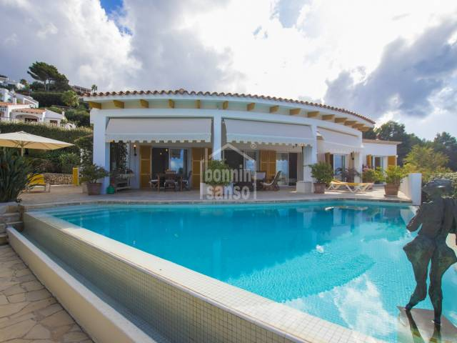 Beautiful property with splendid sea views over the sea in Torre Soli, Menorca