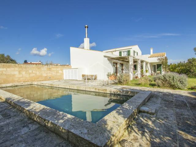 Modern house in lovely village of Llumesanes , Menorca.