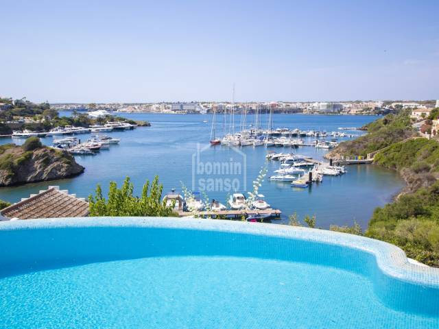 Stunning views from this villa in Cala Llonga, Menorca