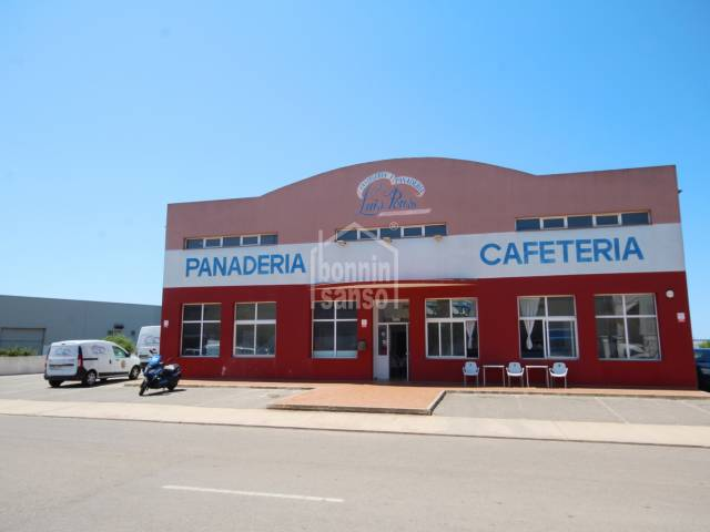 Modern industrial premises on the industrial estate of Sant Lluís, Menorca.