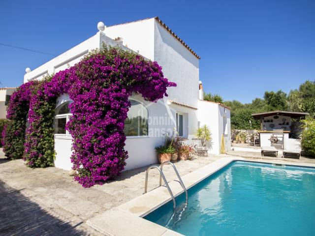 Attractive, two storey villa in the village of Trebaluger, Menorca