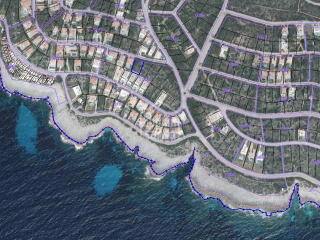 Attention! Building land with planning permission, south coast of Menorca.