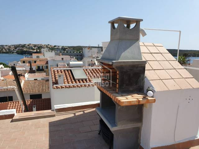 Attic with private roof terrace with superb harbour views in Es Castell, Menorca