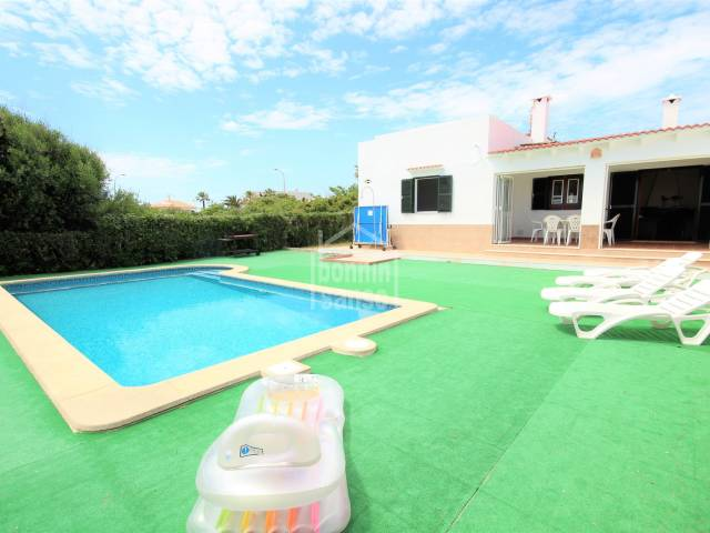 Swimming Pool - Private villa with swimming pool in Calan Blanes, Ciudadela, Menorca
