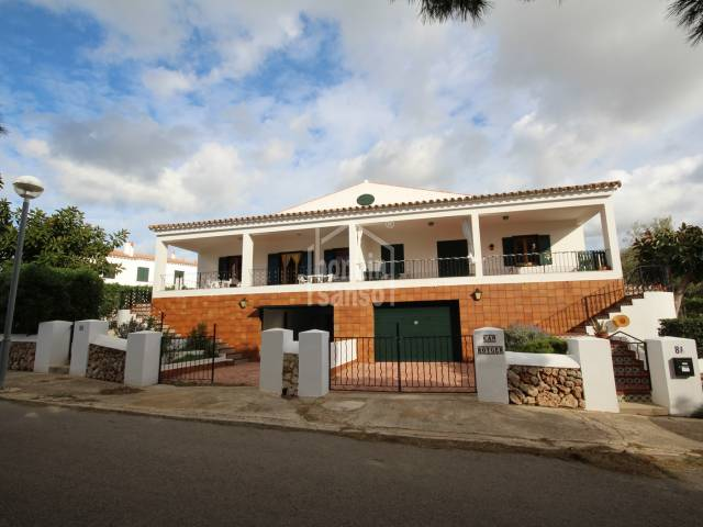 South facing semidetached villa with pool Es Canutells Menorca