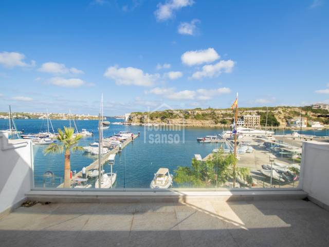 Front line duplex in the Port of Mahon, Menorca