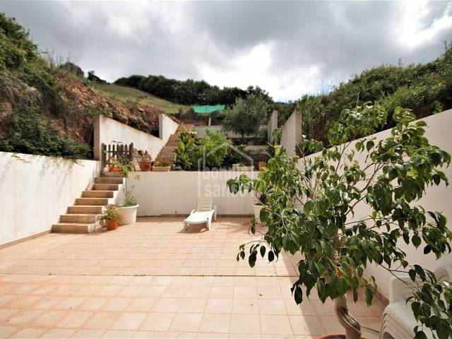 Ground floor flat with large terrace in Ferrerias, Menorca