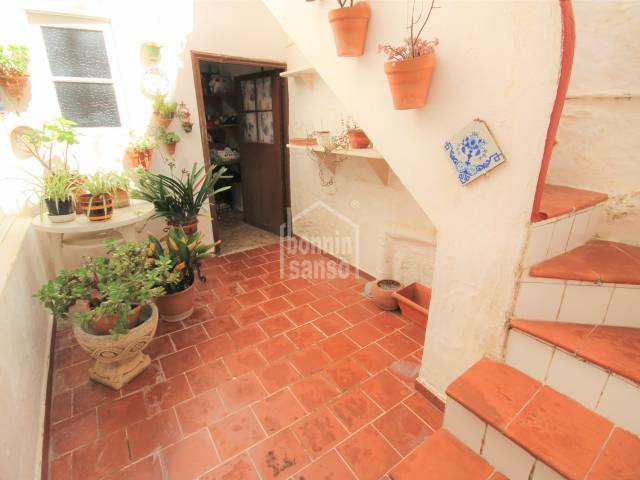 Patio - House in the most commercial sidewalk of Ciutadella, Menorca