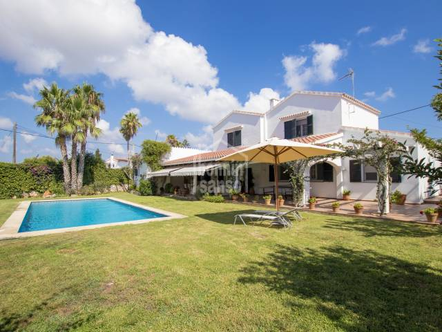 A beautiful villa in the quiet hamlet of Trebaluger, Menorca.