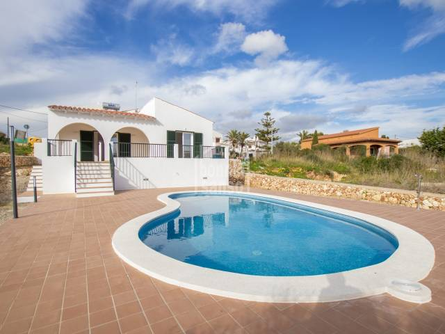 Attractive, newly built villa in Calan Porter, Menorca.