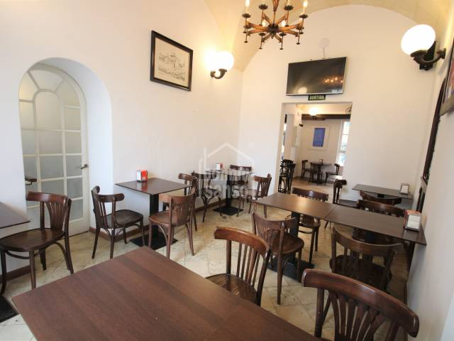 Restored house, current bar-restaurant in the old town, Ciutadella, Menorca