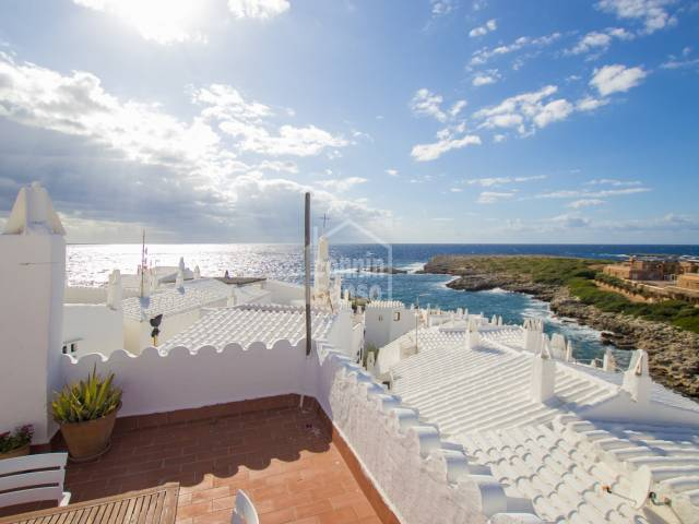 Property with sea views in the Fishing Village, Sant Lluís, Menorca.