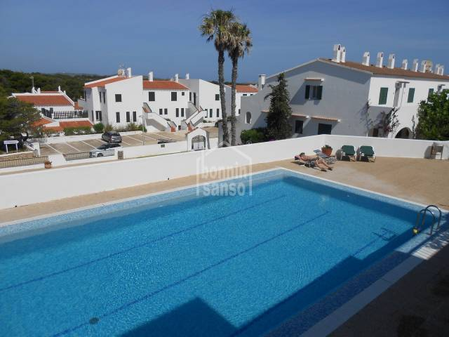 Attractive apartment close to the sandy beach of Son Parc, Menorca.