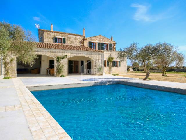 Charming country house of the XVIII century a few minutes from the beaches of the south of Ciutadella, Menorca